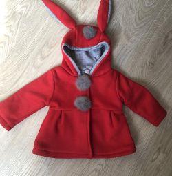 Пальто на девочку 80 см