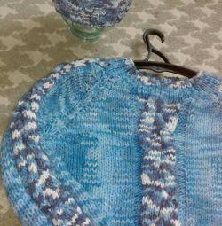 Νέο πουλόβερ + καπέλο