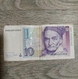 Немецкая банкнота,10марок