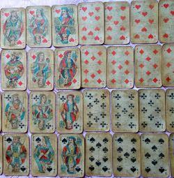 Χρησιμοποιημένες κάρτες παιχνιδιού USSR σατέν