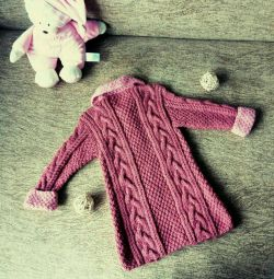 Coat Cardigan (hand knit, new)