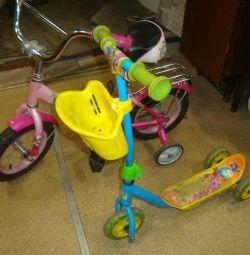 Επιδιόρθωση ποδηλάτου με 4 τροχούς / σκούτερ