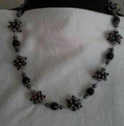 Margele + perla + agat