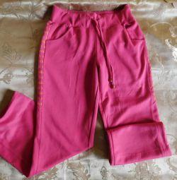 Μωρό ροζ sweatpants για ένα κορίτσι