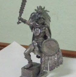 Ancient Tin Warrior - Aztec Maya