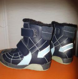 Ботинки Бамбини Натур кожа. Размер 23. Стелька 15