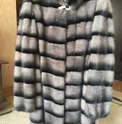 Mink coat (color: muted graphite).