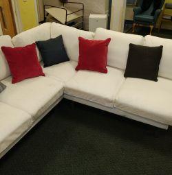 8 locuri NORSBORG tapițerie U / L formă de canapea colț