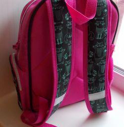 Рюкзак школьный розовый «Кошки».