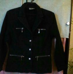 Τζιν μπουφάν με μαύρο χρώμα