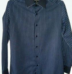 PRPS Goods /& Co Men/'s Brown Indus Plaid Long Sleeve Button Down Shirt *SK