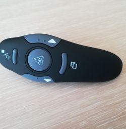 Presentation remote control with laser pointer.