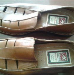 Ayakkabı deri, 39-40 beden el yapımı.