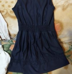 Blue sundress for school for height 146 / 158cm.