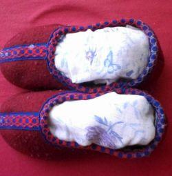 Children's slippers. Foot length 17