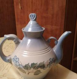 Large custard teapot (bargaining)
