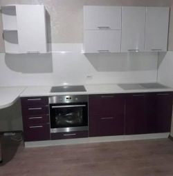 Kitchen White / Violet gloss 2,9m in Nakhodka
