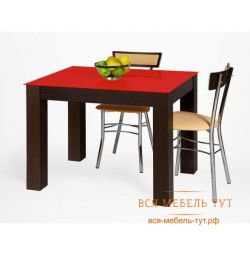 Table Twist 1000 * 700 (wenge premium / glass deep red)