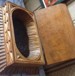 Wooden carved casket