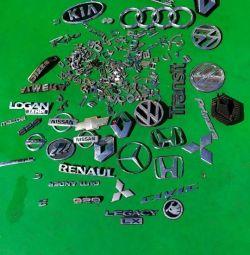Original car lettering emblems