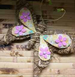 BUTTERFLY decorative from hay.