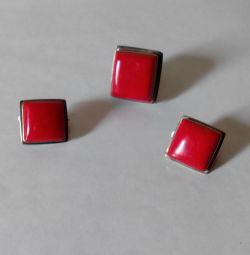 комплект червоний корал