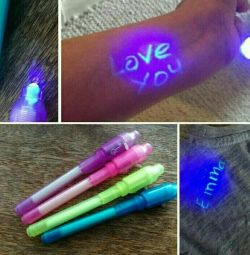 Invisible ink. Fun game, pen