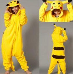 Pijamale Kigurumi pikachu nou