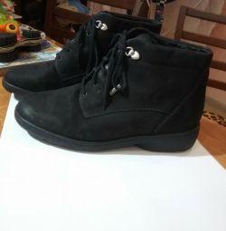 Boots, leather, orthopedic