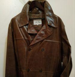 Palton nou din piele dimensiunea 54