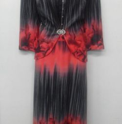 Нарядное платье с жакетом.