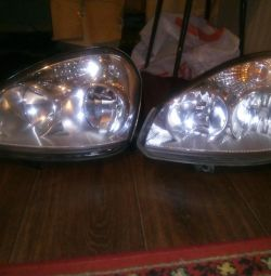 Set of headlights on Lada Priora