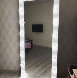 Full-length fitting mirror with backlight