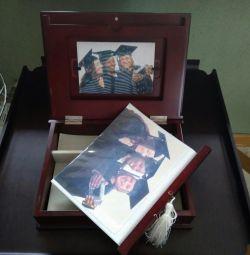 Wooden album - a box for graduates