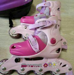 Kızlar için çocuk tekerlekli paten, nehir 29-32