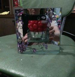 Mirror candlestick.