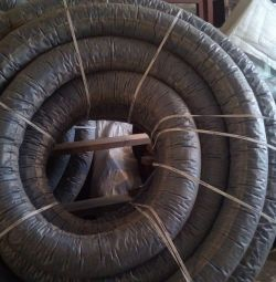 The pipe is drainage, corrugated, two-layer