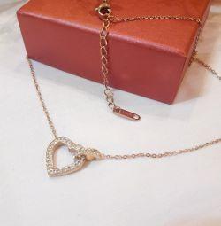 Χρυσή αλυσίδα καρδιάς