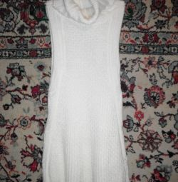Knitted waistcoat, elongated, new