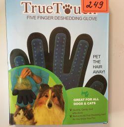 Hayvan tarama için gerçek dokunma eldiven
