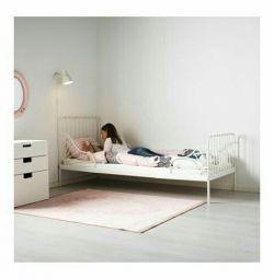MINNENKARKAS double bed + raynchn bottom, white, 80x