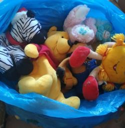 Different toys with bags
