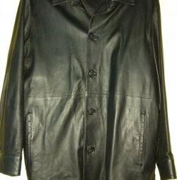 Deri ceket bir ceket. Erkek. Siyah renk