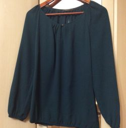 "Blouse ""Sprit"" p. M, Malachite, gray tunic, sweater"