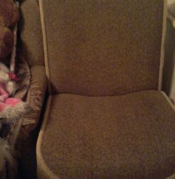 Armchairs with drawer 2pcs