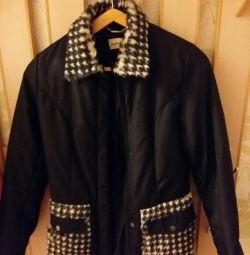 Gerçek kürklü sıcak ceket
