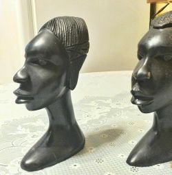 African ebony busts