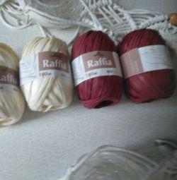 Пряжа Рафия, шнур для плетения