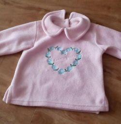Fleece blouse for girl 86-92 new