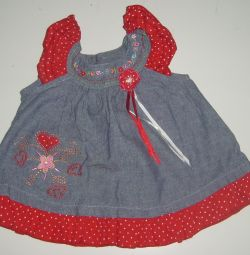 Платье детское 6-9 месяцев